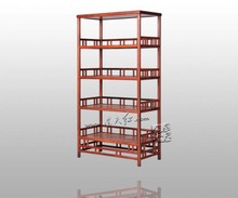 Storage Wood Bookcase Chinese classic Retro Book Stand Rack Rosewood Redwood Bookshelf Home Furniture Office Cupboard Locker set