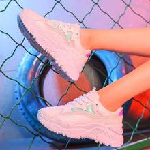 Mode Chaussures Femme Baskets Baskets Tenis Feminino Plate-Forme Chaussures Air Mesh Respirant Chaussures Blanc Sneakers Zapatillas Mujer(China)