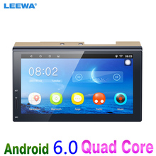 LEEWA 7inch Ultra Slim Android 6.0 Quad Core Car Media Player With GPS Navi Radio For Nissan/Hyundai 2DIN ISO #CA3887(China)