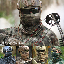 Magic Scarf Camouflage Neck Warmer Protection Head Tube Face Mask Headband Bandana Headwear Wrap Tactical Military Bicycle Army(China)