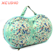 XC USHIO 2018 New Fashion Travel Portable Women Bra Storage Case Protect Underwear Travel Bag Lingerie Bra Storage Box Organizer(China)