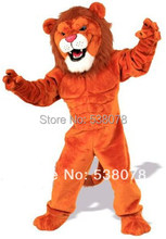 Deluxe Red Power Cat Lion Mascot Costume Adult Male Lion King Wild Animal Theme Carnival Party Cosply Mascotte Suit Kit SW1019