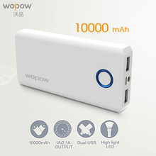 Buy WOPOW Power Bank 10000mAh QC3.0 quick charge Powerbank Large Capacit External Battery Pack Dual USB Charging Port Phones PC for $20.17 in AliExpress store