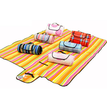 Outdoor Camping Beach Fleece Sleeping Mat Pad Picnic Park Moisture-proof Creeping Suede Pad Sand Mat 150x200cm Random Color