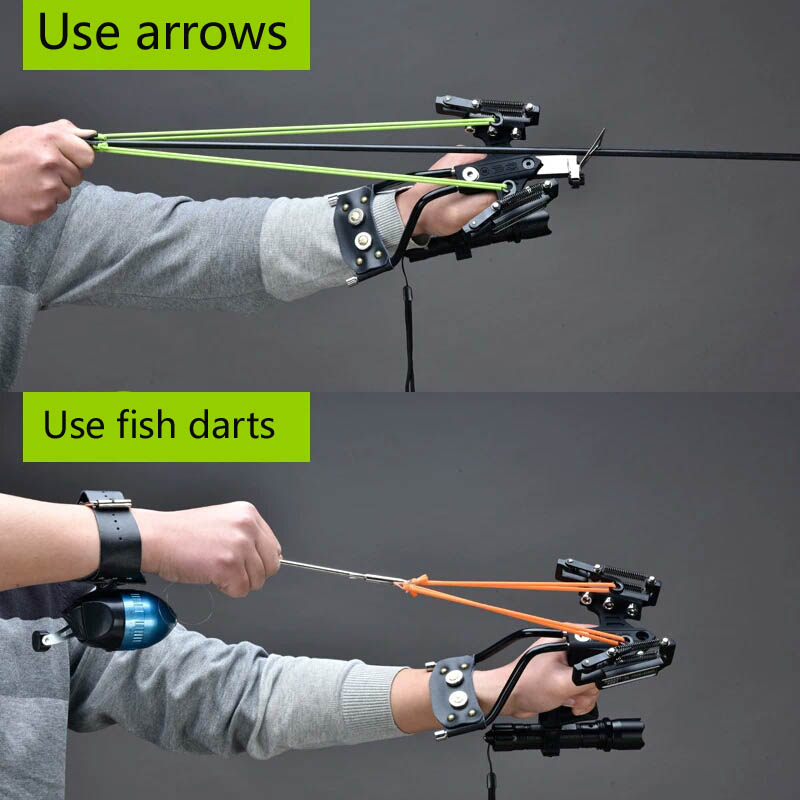 Shooting Arrow Sling Shot Slingshot catapult Hunting Powerful Sling Shot Bow Stainless steel Outdoor Athletic Bow Crossbow Bolt<br>
