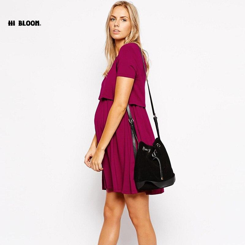Happy  Brand Maternity Clothes Breast-feeding Dress For Pregnant Women High Quality Pregnancy Nursing Dress Nice Vestidos<br>