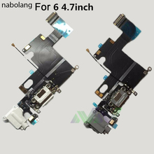 Nabolang USB Charging Charger Connector Dock Port Flex Cable Rear Tail Plug Cable For iPhone 6 6plus Replacement Repair Parts(China)