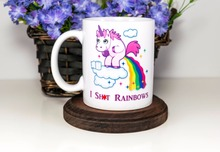 unicorn mugs magic mugs coffee mug morph  gifts magical heat sensitive Black colour change morphing Tea mugen white mug