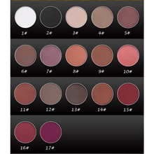 New Fashion Single Color Eye Shadow Minerals Waterproof Pigments Brown Black White Matte Eyeshadow Autumn Winter 1-17Colors(China)