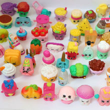 100pcs/1lot Shopkin New Arrial Fruit Merchain Catoon 1-3cm Action Figures Toys Brinquedo Toy Girl Boy Christmas Gift