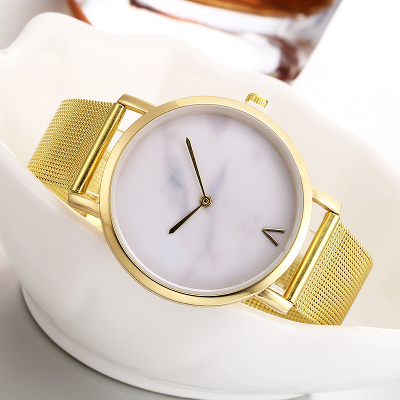 hot fashion womens watches creative marble pattern dial quartz wrist watches free shipping (5)