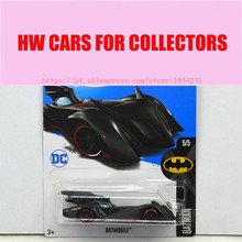 New Arrivals 2017 Hot Wheels 1:64 Black Batmobile Metal Diecast Cars Models Collection Kids Toys Vehicle For Children(China)