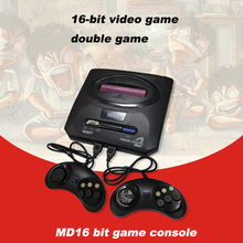 OTHA 16 bit TV Video Game Console Wired Gamepad Support Game Card AV Connector Dual System Game Console for NES SEGA Genesis/MD(China)