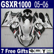Injection molded  fairing kit for 2005 GSXR1000 2006 K5 gsxr 1000 05 06 white black corona suzuki fairings
