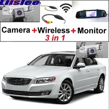 Liilee 3 in1 Special Rear View Wifi Camera + Wireless Receiver + Mirror Monitor Easy DIY Parking System For Volvo S80 S80L