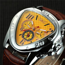 Luxury Triangle Shape Dial Mens Watches Designer Watch Auto Date 24 Hour Display Automatic Mechanical Male Relogio(China)