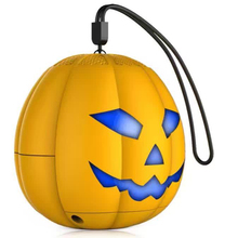 100pcs/lot 2016 New Halloween Pumpkin LED Light Mini Bluetooth Speaker Wireless Loudspeaker Soundbox FM TF card Great Gift