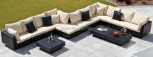 2017 New Super Rattan patio Corner Sectional Sofa Suite Garden Set(China)