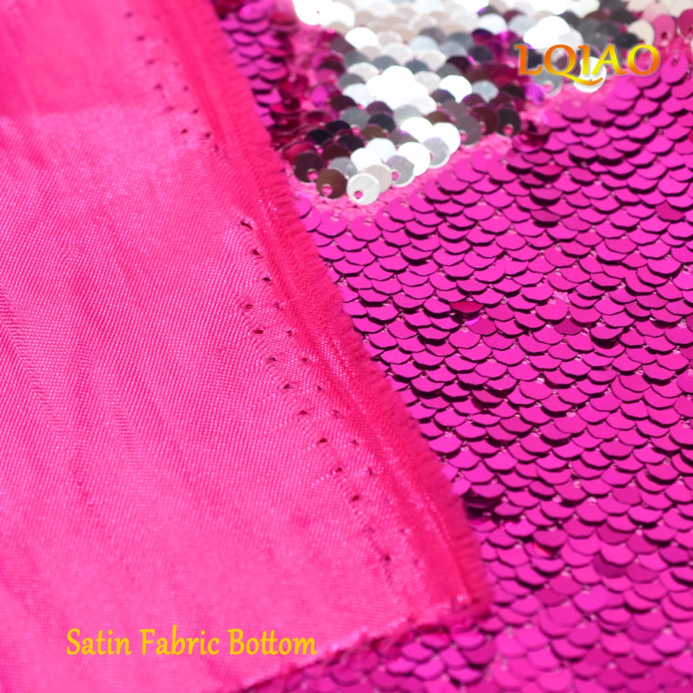 Fuchsia Silver Sequin Fabric-003