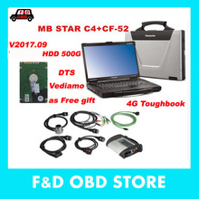 MB Star C4 SD Connect+CF52 4G+HDD 2017.9 dts Xentry Diagnostic System Compact 4 Mercedes Diagnosis Multiplexer For Benz Diagnose