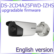 Free shipping English Version DS-2CD4A25FWD-IZHS 2MP Smart IP Outdoor Bullet Camera with smart heater