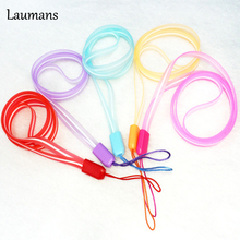 Laumans 50pcs/lot Squishies Lanyard for Keys Mobile Phone Straps Soft PVC Squishy Ropes For Case ID Pass Card Badge Gym Key