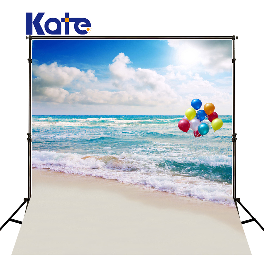 KATE Photo Background Summer Background Sea Backdrop Beach Themed Backdrop Balloon Background Sunshine Photo for Children Shoot<br>