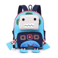2017 New Brand Design Kids Backpack Cute High Quality School Bags In Primary School for Girls Boys Children Robot Backpacks