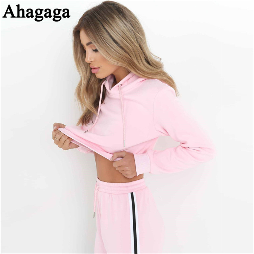 Women's Tracksuits Set, Casual Hooded Sweatsuit Set 22