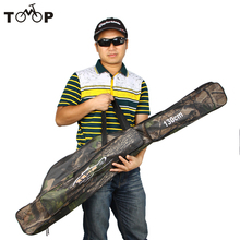 1.3M 2 Layers Canvas Fishing Bag Water Resistant Fishing Rod Bag Outdoor Camouflage Fishing Backpack Pesca Tackle Tool