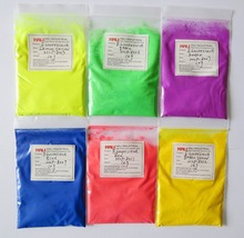 fluorescent pigment,phosphorescent pigment(can not glow in the darkness),60gram x Mixed 6 NEON Colors.free shipping,widely used.(China)