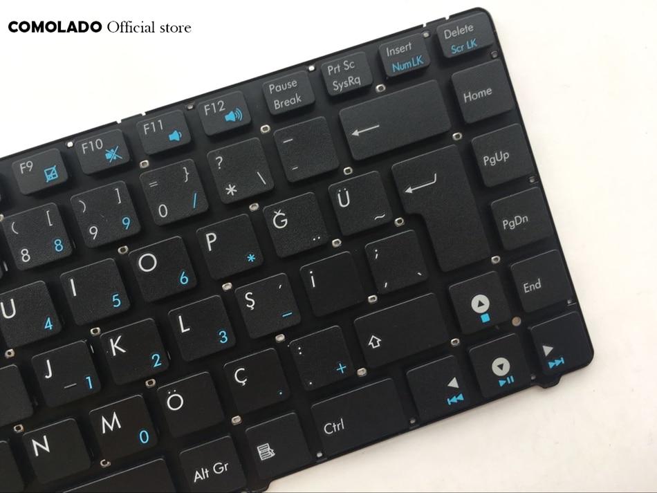 TR Turkish keyboard For ASUS U36 U36SD U36SG U40SD U41J U41JF U41SV K42 K43 UL30 series Black without frame keyboard TR Layout (2)