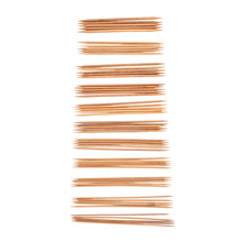 44Pcs 11sizes Double Pointed Carbonized Bamboo Crochet Knitting Needles Knitting Knit Kit Domestic Costura Sewing Accessories(China)