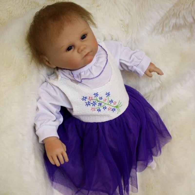 Girl Baby Dolls 20inch BeBe Doll Reborn 50cm Soft Silicone Reborn Doll Toys Realistic Newborn Juguetes Babies Toys Brinquedos<br><br>Aliexpress