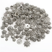 150pcs Tibetan Antique Silver Color Beads End Caps Flower Bead Caps For Jewelry Making Findings Diy Accessories Wholesale Supply(China)