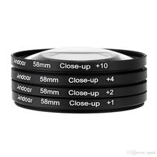 Free shipping + tracking number 58mm MACRO Close-Up +1 +2 +4 +10 LENS Filter Close Up SET for canon nikon pentax sony SLR
