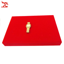 Fine  Jewelry Display  Red Velvet   Watch Bracelet Bangle Exhibitor Case Best for Wedding Gold Jewelry Display Tray