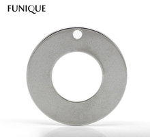 20 Silver Tone Stainless Steel Round Circle Pendants Blank Stamping Tags 20mm For Necklace Jewelry Making