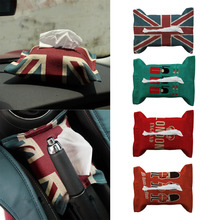 OUTAD Hot SaleFashion England Style Decorative Tissue Box Cotton Flax Blending Car Vehicle Bedroom Facial Tissue Box Case(China)