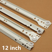 12 inch Furniture hardware Computer desk drawer rail slideway keyboard bracket guide rail