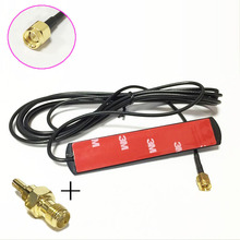 1pc 3G 4G LTE patch antenna 3dbi 3m extension cable SMA male connector + 1pc SMA Female to CRC9 Male RF Coax Adapter(China)