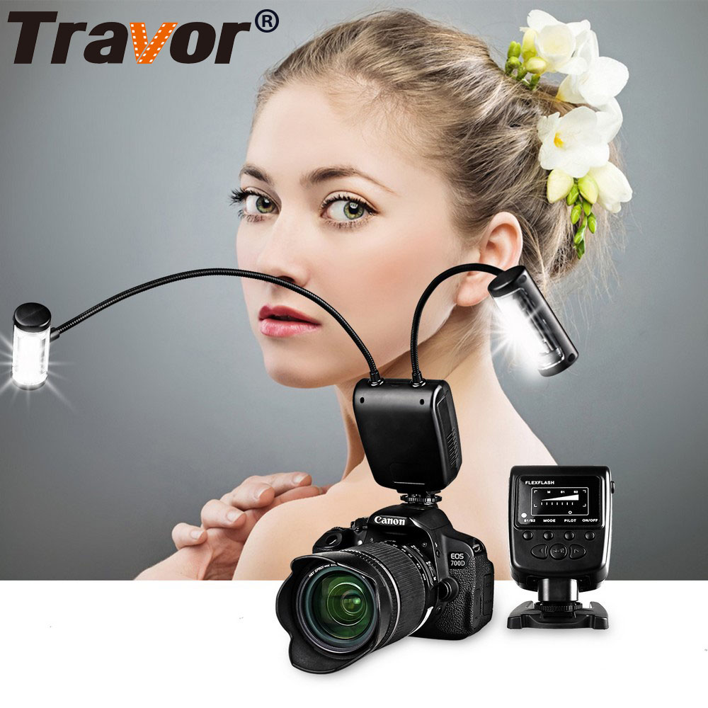Travor Universal Camera Flash Speedlite GN39 Metallic hose antenna Arbitrary angle lighting for Canon Nikon Pentax Olympus Sony<br>