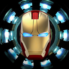 Hongsund 2017 Recommend Iron Man Mouse Wireless Mouse Gaming Mouse gamer computer mice Free shipping(China)