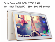 Free shipping 10 inch 4G Lte Tablet PC Octa Core 4GB RAM 32GB ROM 1280*800 IPS Dual Cameras GPS 5.0MP Android 7.0 Tablet +Gifts(China)