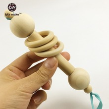 Let's make Baby Toys Wooden Baby Rattle Montessori Rattle Wooden Baby Toys Unique Baby Boy Gift
