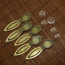 18mm Clear Domed Glass Cabochon Cover for Antique Bronze DIY Alloy Portrait Bookmark Making, Lead Free & Nickel Free, Bookmark