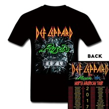 UK Heavy Metal Rock Band Def Leppard T-Shirt Def Leppard Poison Tesla 2017 Concert Tee T Shirts Summer Fashion High Quality Tops(China)