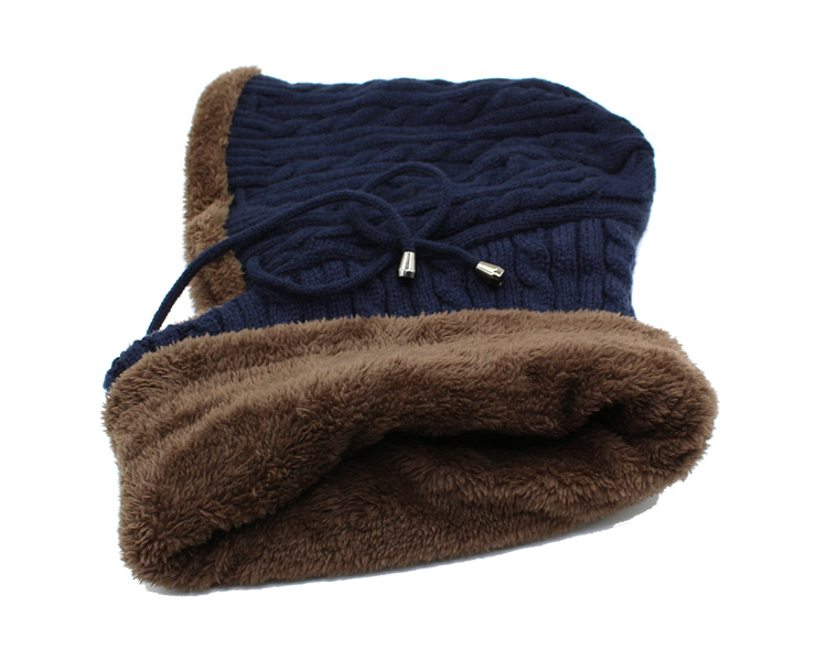 قبعة و وشاح رجالي دافئ 21