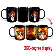 Heat Change Dragon Ball Z SSJ4 Gogeta Heat Reactive Color Changing Ceramic Coffee Cup Novelty Caneca Mug Cups Creative Mugs Gift(China)