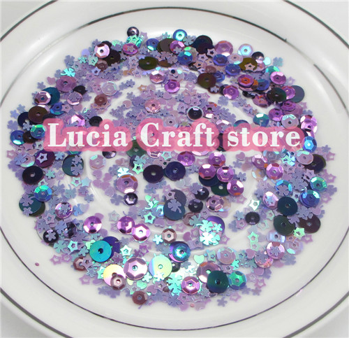 Lucia crafts 20g/lot Mixed Sizes/Shapes Flake Cup Confetti Loose Sequins Paillettes Sewing&Wedding Accessories24010062(3-6HS20g)(China (Mainland))